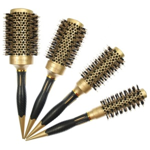 High-heat resistant boar bristle and nylon professional hair brush factory