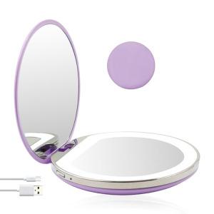 LED Mirror Makeup Lights Travel Handheld Portable Mirror
