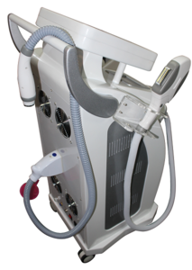 New Version three in1 OPT E- light IPL RF(cooling+heat) YAG laser hair removal for multi treatments