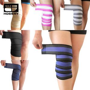 Powerlifting Elastic Bandage Leg Compression Calf Knee Support Strap Wraps Band Brace Sports Safety