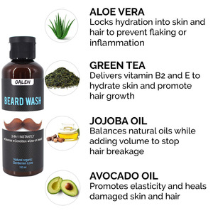 Private Label FDA Approved Organic Beard Care Products Cleansing And Moisturizing Beard Shampoo