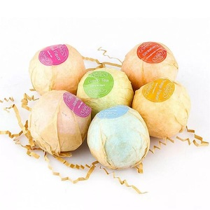 Private label wholesale fizzy bath bombs for kids