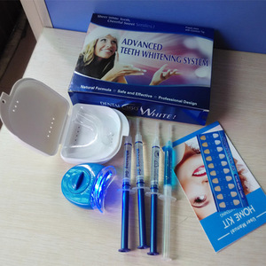Super bright teeth whitening gel kit for home use