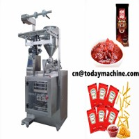 pneumatic liquid and paste filling and packaging machine for cream shampoo