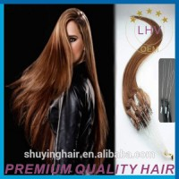 Best sale high quality hair extension micro beads curly micro links hair extension