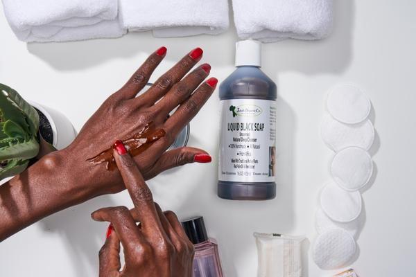 African Liquid Black Soap 16oz