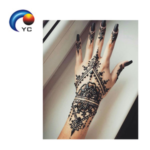 Bride Hands Tattoo Sticker Stencils Henna Stencil with Mehndi Design