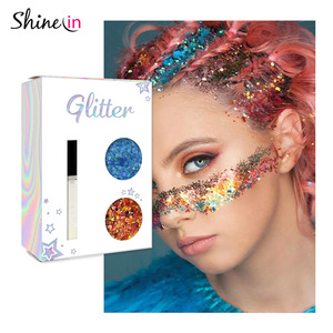 China Manufactory Makeup Face Glitter Chunky Holographic Body Glitter with Glitter Primer Gel for Carnival