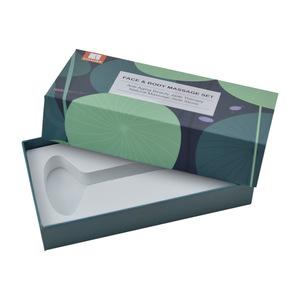 Custom Logo Jade Crystal Rose Quartz Face Roller packaging box skin care tool packaging box lid and base box with foam