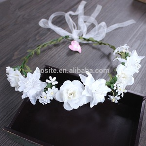 New artificial bride hair accessories garland hair piece crown of flowers