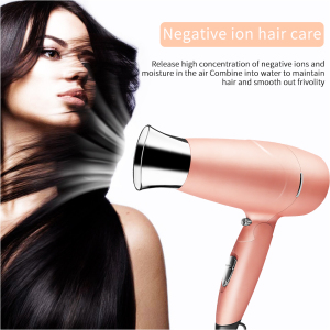 Pink hair dryer for custom package private logo home use safe professional dryer high end quality PTC heating hair dryer