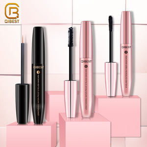 QIBEST Unique Romantic Waterproof Silk 4D Fiber Eyelash Extensions Eye Lash Coating Mascara With Lashes