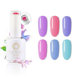TENTEU one step gel 2019 new color hot sale uv color nail polish for nail painting