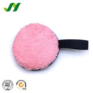 Colorful Microfiber Bamboo Facial Cellulose Make Up Cosmetic Powder Sponge Puff