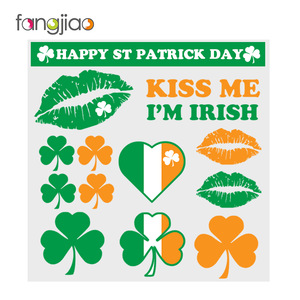 Customized Shamrock Tattoo Sticker for St. Patricks Day