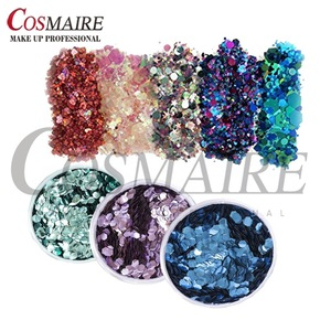 Mixed Colors Shapes Bulk Non-toxic Face Body Chunky Glitter Wholesale