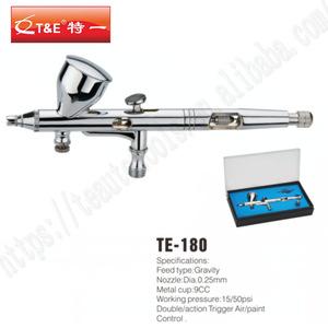 Portable Gravity Feed Dual Action Airbrush Paint Spray Gun Set TE - 180 Airbrush For Nail Art Cake Model