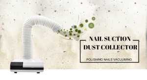 Portable Nail Dust Collector with Single Flexible Arms, Manufacturer Promotion Price Fume Extractor for Beauty Nail Hair Salon