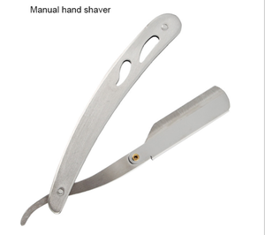Amazon hot sale barber  Stainless Steel Single Blade Folding Straight Shaving Razor
