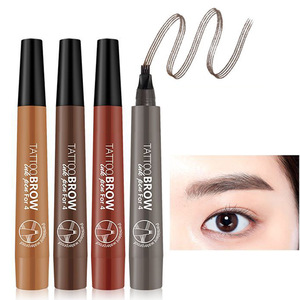 Best Selling Makeup Fork Tip Liquid Eyebrow Makeup Your Own Private Label Custom Eyebrow Pencil