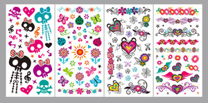BODY TEMPORARY TATTOOS FOR KIDS