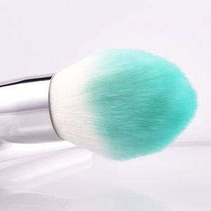 Customized Personalized White Makeup Brush Set Cosmetic Tool Kit Wholesale 2pcs