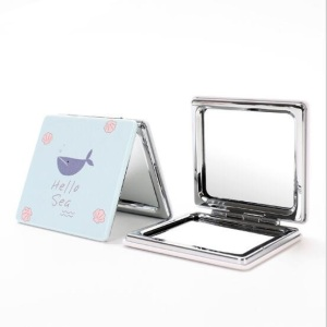 Double-side Square Makeup Compact Cosmetic Mirrors