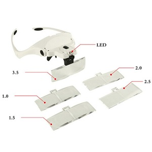 Interchangeable Head Eye Magnifying Glasses With Lamp PMU accessories
