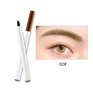 New Arrival Private Logo Eyebrow Pencil Water-proof Long Lasting 4 Fork Eyebrow Pen