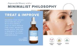 oem anti-aging face skin care moisturizing whitening pure  facial hyaluronic acid serum