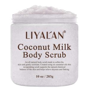 OEM Natural Organic Moisturizing Exfoliator Body Private Label Milk Coconut Scrub