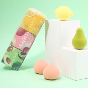 Yousha Cute fruit soft big hydrophilic makeup sponge blender microfiber custom logo non latex makeup cosmetic puff beauty sponge