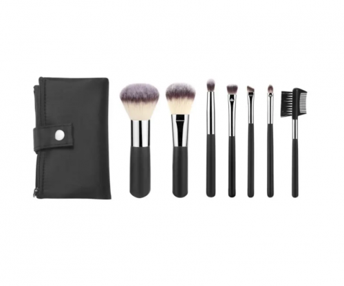 7pcs Gift Cosmetic Brush Set with Private Label and Free Sample