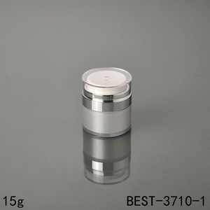 15g face cream airless cosmetic jar, 30g chinese glass airless cosmetic jar