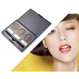 2017 best selling products Makeup kits eyebrow powder 3 color with Highlighter and brush