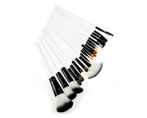 20pcs Pro natural animal hair makeup brushes with leather bag