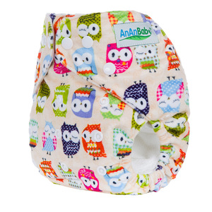AnAnBaby Soft Printing PUL Minky Breathable baby Cloth Diaper/Nappies with button closure