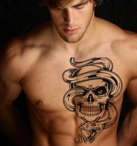 Cool Men Waterproof Tattoo Sticker Domineering Tattoo Sticker Arm Body Tattoo Sticker