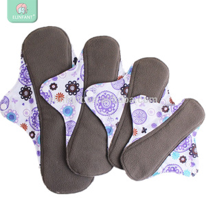 Elinfant lady cloth menstrual pads washable bamboo charcoal reusable sanitary napkin