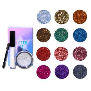Glitter Lipstick Private Label Glitter Lipstick Matte Glitter Lipstick Kit 12 Colors With Private Label