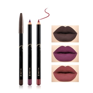 Hot selling waterproof makeup private label 12color matte lipstick multi function lipstick pencil set/ lip liner