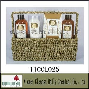 Private label professional moisturizing body skin care set