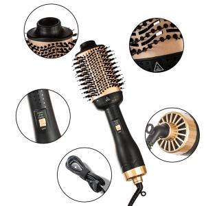 Professional Volumizer Styler Negative Ion Hair Straightener Curler Brush One Step Hair Dryer Hot Air Brush 3 in1Hair Dryer