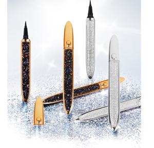 2021 hottest selling Self-adhesive Magic Lash Liner  Glue Pen  Diamond Glitter Liquid Eyeliner Waterproof Long lasting