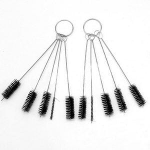 5pcs/set Tattoo Machine Tube Tip Cleaning Brush Airbrush Air Brush Spray Gun Tip Brushes Set Tattoo Supplies Stainless Steel