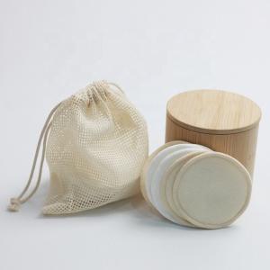 Cotton Reusable Washable Bamboo Organic Makeup Remover Pads