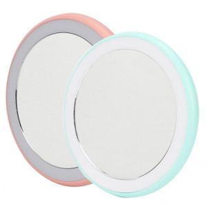 Double Side Metal Led Makeup Mirror Portableled Makeup Led Mirror Rechargeable Vanity Mirror
