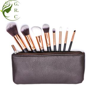 facial brush cosmetic brushes 8 pcs mini naked makeup brushes set red