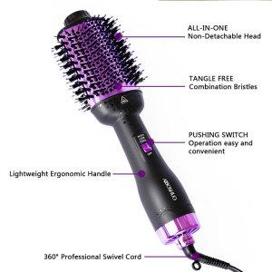 Mesky 4 in 1 One step hair dryer&Curler On Sale Hot Air Brush Hair Dryer hair dryer brush straightener