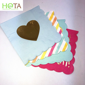 print napkin with hot stamping